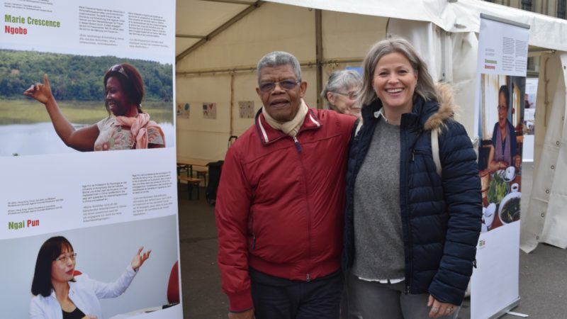 Charles Ridoré et Tiziana Conti Action de Carême à Lausanne poursuit sa route    © Jacques Berset