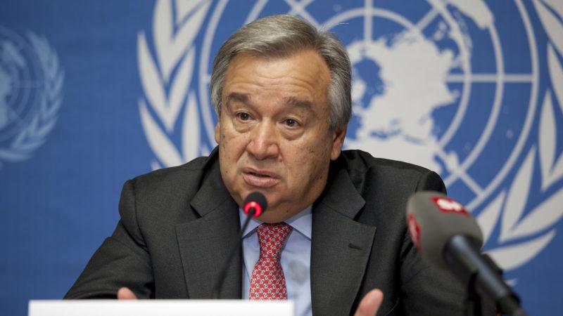 Le secrétaire général de l'ONU, Antonio Guterres   © E. Bridiers/ONU/CC BY-ND 2.0