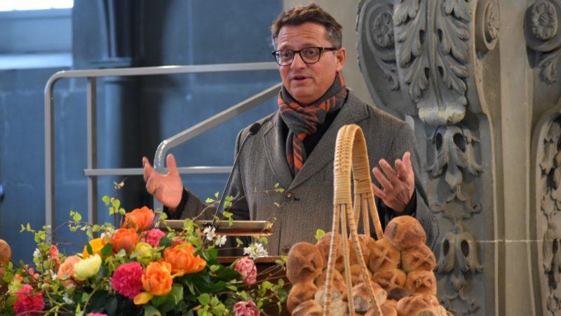 Mgr Felix Gmür, président de la Conférence des évêques suisses lors du Jubilé de la campagne oecuménique de carême   © Jacques Berset