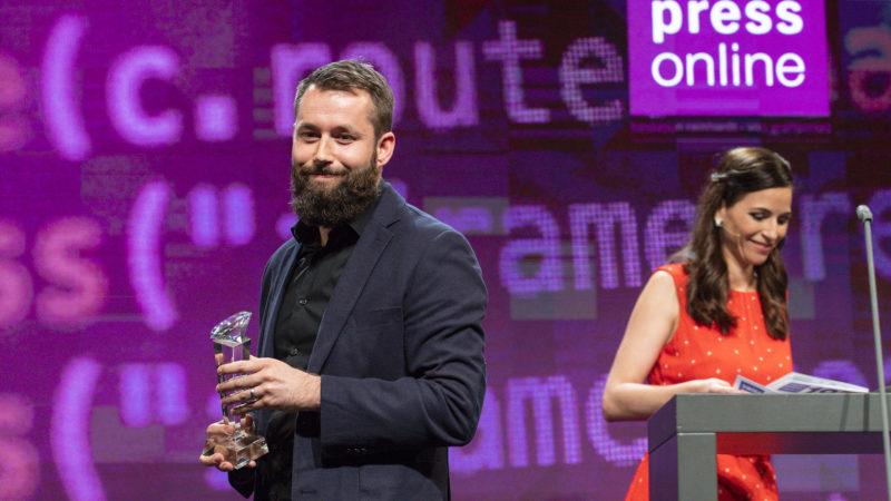 Pierre Pistoletti, lauréat du  Swiss Press Award 2019 dans la catégorie 'Press online' | © photo: Swiss Press Photo Alessandro della Valle Keystone SDA ATS