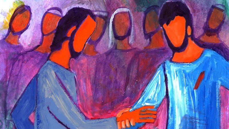 """Jésus dit: """"Cesse d'être incrédule, sois croyant"""". Thomas lui répond: """"Mon Seigneur et mon Dieu!""""   Photo: evangile-et-peinture.org"""