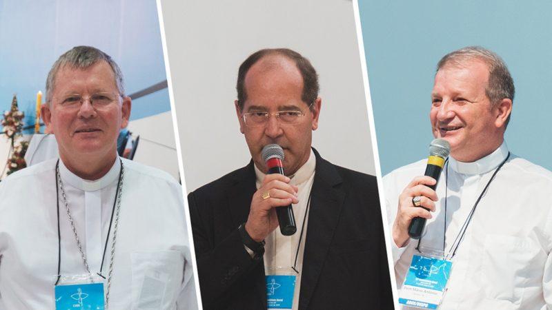 La nouvelle présidence de la CNBB (de dr à g.): Mgr Jaime Spengler, Mgr Walmor Azevedo et Mgr Mario Antonio da Silva |  © CNBB