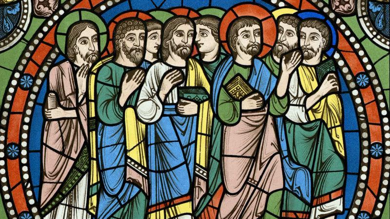 Monographie de la Cathédrale de Chartres - Atlas (1867) - Vitrail de la vie de Jésus Christ - Chromo-lithographie. | Wikimedia commons