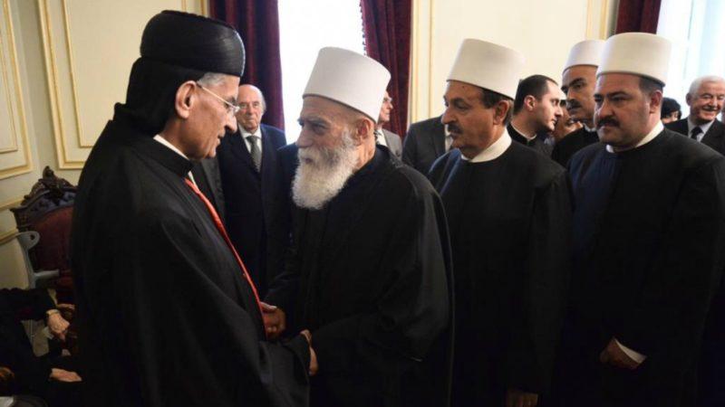 Le patriarche maronite Béchara Raï reçoit les condoléances du cheikh Akl des druzes | © ANI
