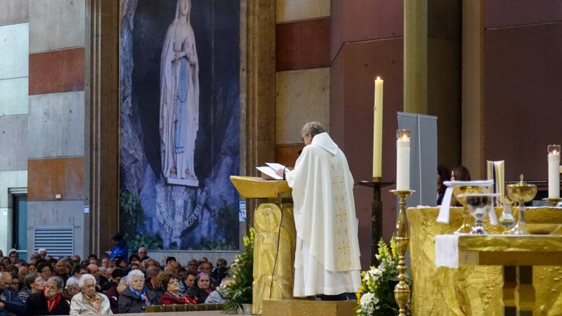 La messe d'ouverture du pèlerinage interdiocésain de Suisse romande  à Lourdes | © Maurice Page
