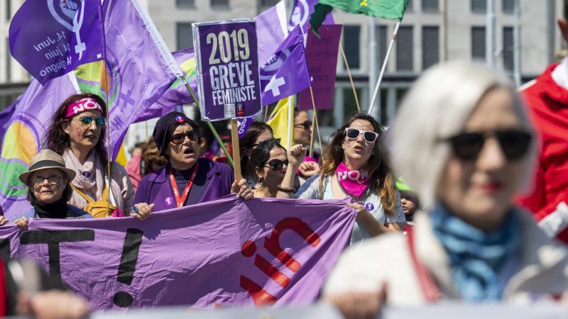 Le 1er mai 2019, des manifestantes annonçaient la grève des femmes du 14 juin. Les femmes en Eglise se joindront au mouvement. | © Keystone