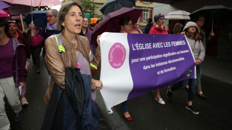 Grève du Réseau des femmes en Eglise le 24 juin 2016 à Lausanne. | © B. Hallet