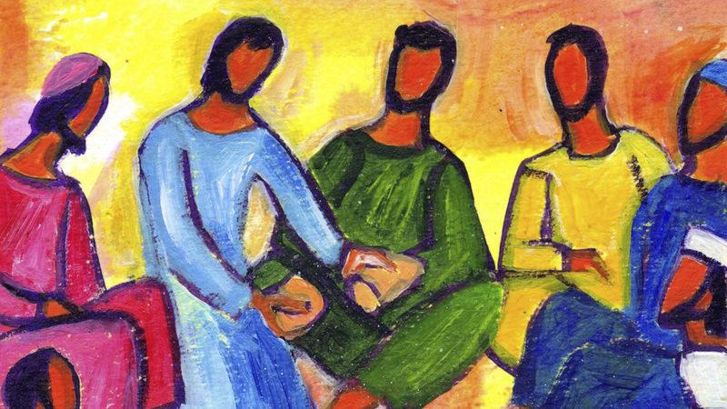 A partir de ce que les disciples possèdent, Jésus peut nourrir la foule manifestant [...] qu'il est la nourriture pour tous.| © B. Lopez/Evangile et peinture
