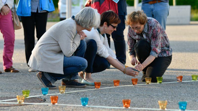 Action de solidarité et contre les abus dans l'Eglise à la paroisse de Volketswil (ZH) | © Manuela Matt