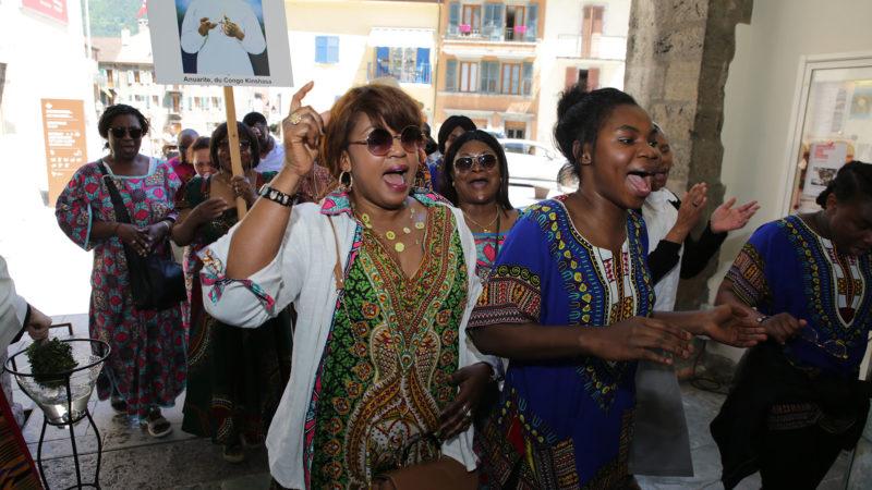 Saint-Maurice le 2 juin 2019. Messe du pèlerinage aux saints d'Afrique à la basilique de l'Abbaye. | © B. Hallet