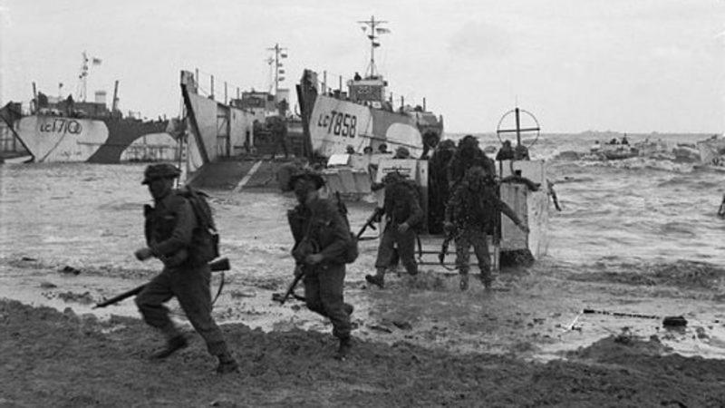 """Le pape a rappelé que le débarquement allié avait  """"délivré l'Europe de la barbarie nazie"""" (Photo:Imperial War Museum)"""