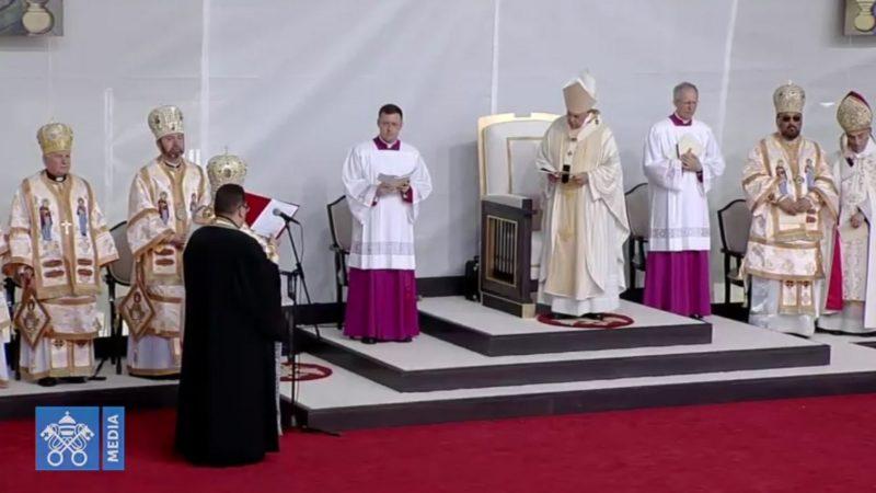 Le pape a béatifié sept évêques gréco-catholiques martyrs du communisme | capture d'écran Vatican media