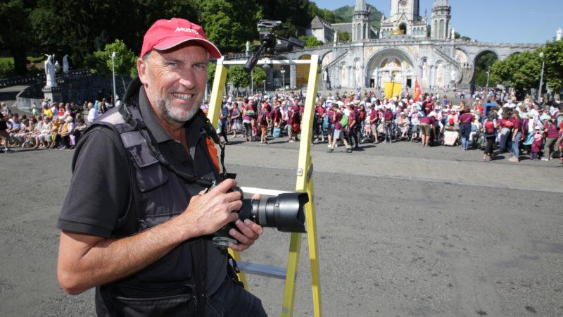 Olivier Vaudoit est photographe sur le sanctuaire de Lourdes depuis 1986. | © B. Hallet
