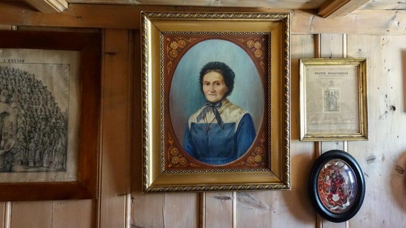 Le portrait de Marguerite Bays, dans la chambre de la Pierraz où elle a vécu |  © Maurice Page