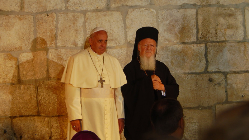 Pope_Franciscus and Patriarch_Bartholomew