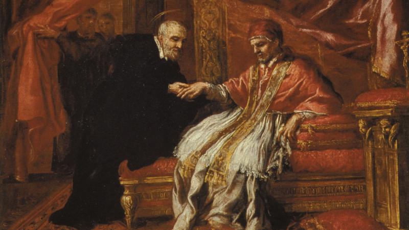 Pietro da Cortona, S. Filippo Neri guarisce Clemente VIII dalla gotta