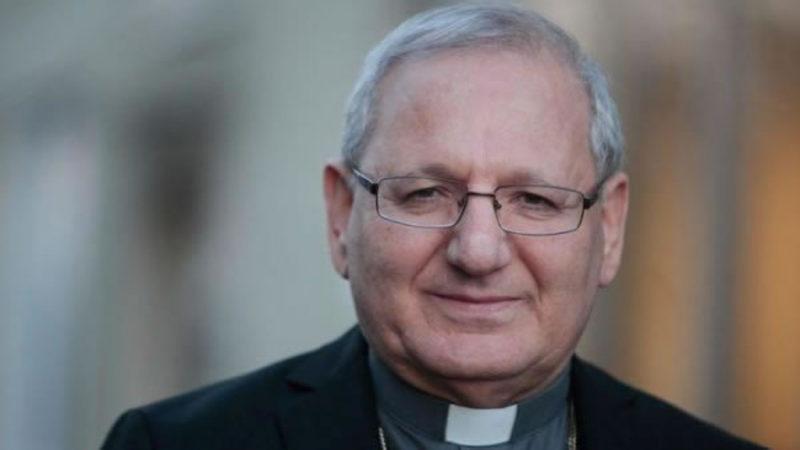 Il Patriarca iracheno Sako, che ha ricevuto l'invito dal Presidente iracheno da portare al Papa.