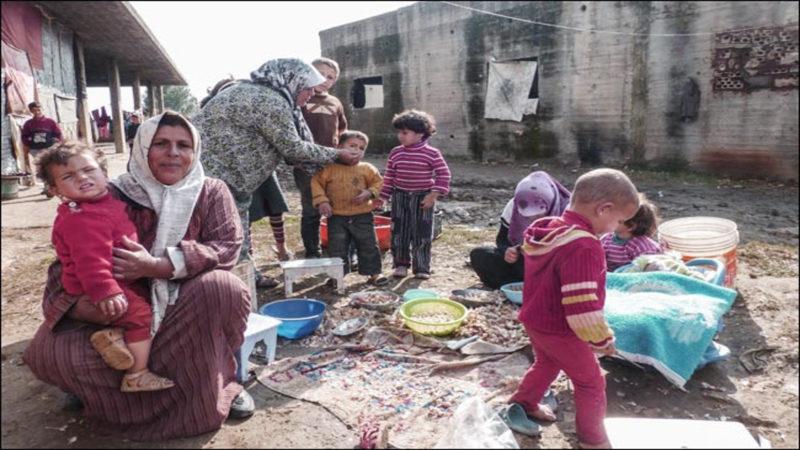 Campo profughi in Libano