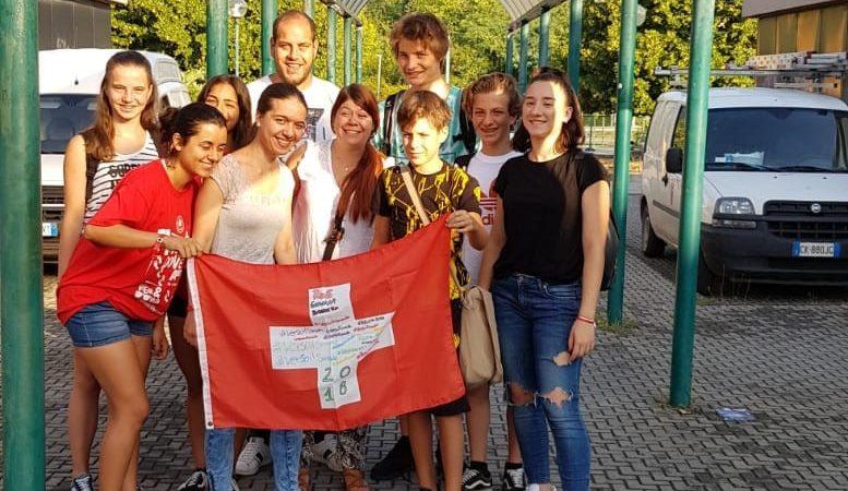 Il gruppo della Svizzera italiana in cammino verso Roma.