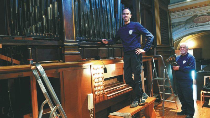 Airolo Chiesa installazione nuovo Organo
