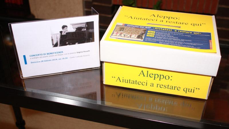 Raccolta fondi organizzata dal Centro per Aleppo.