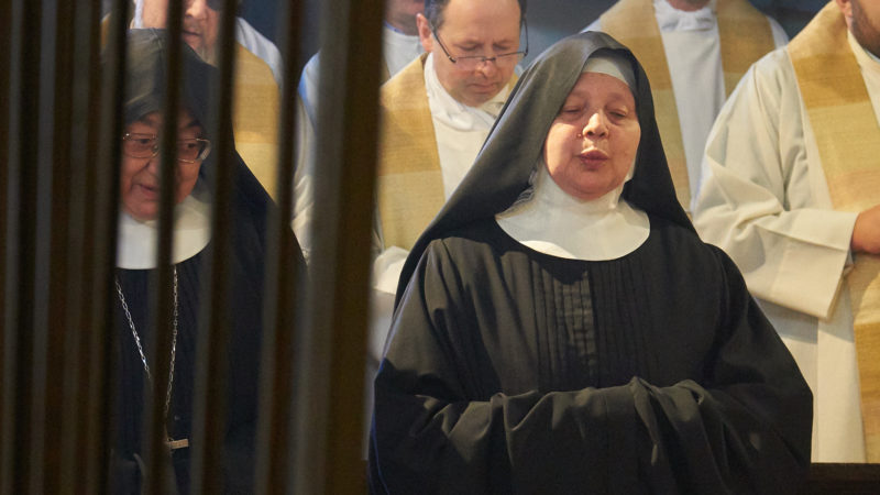 La nuova Abbadessa del monastero, suor Maria Sofia Cichetti.