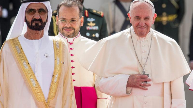 Papa Francesco durante la sua recente visita negli Emirati Arabi Uniti(KEYSTONE)