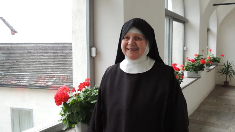 Suor Maria Sofia Cichetti, futura abbadessa del monastero di Claro.