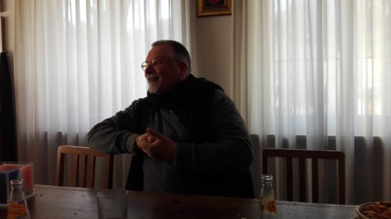 Padre Jens, della Comunità fondata da padre Dall'Oglio.