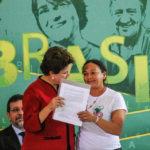 Dilma Ferreira assieme all'ex presidente del Brasile Dilma Rousseff.