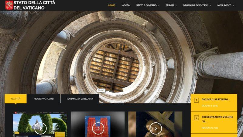 La nuova homepage del sito della Città del Vaticano