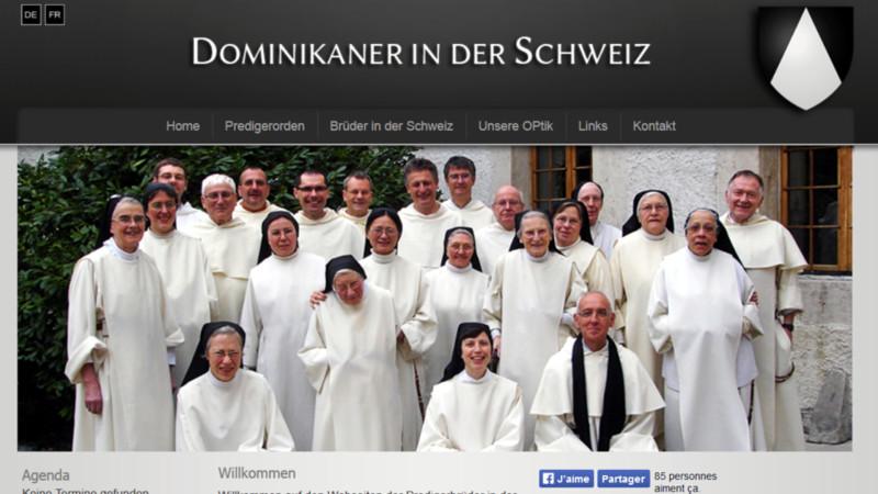 Dominikaner in der Schweiz | © 2015 screenshot www.dominikaner.ch
