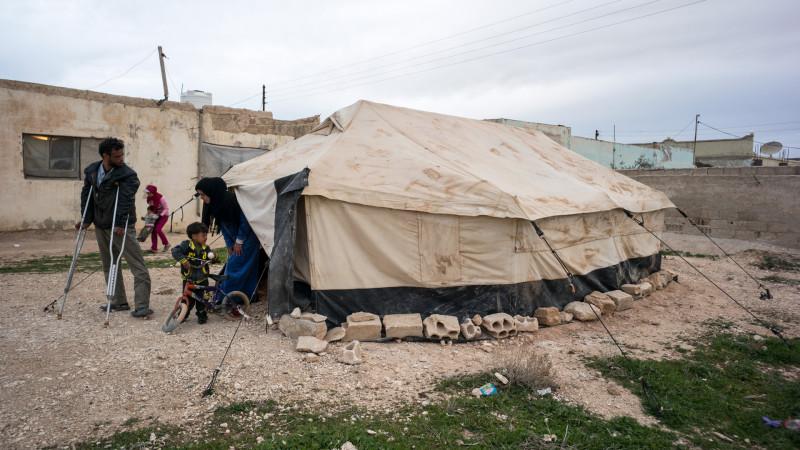 Syrische Familie in Jordanien   © 2016 Alexandra Wey, Caritas Schweiz