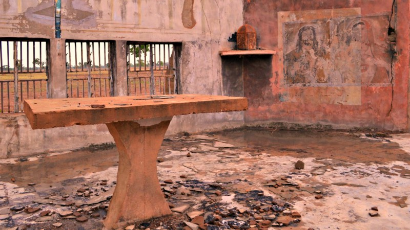 Nigeria L'église Saint-Joseph détgruite par Boko Haram (Photo: Aide à l'Eglise en Détresse)