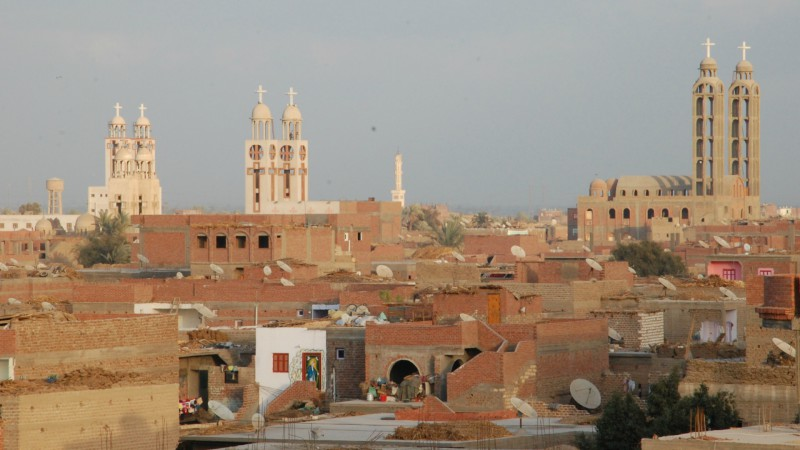 Egypte Gros bourg  copte de Haute-Egypte (Photo: Jacques Berset)
