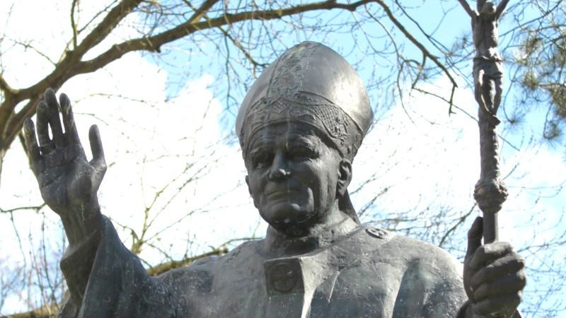 Jean Paul II reste une figure vivante et qui inspire la jeunesse polonaise. (Photo: B. Litzler)