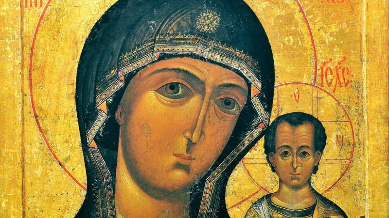 Icône de Notre Dame de Kazan - détail. (Photo: DR)