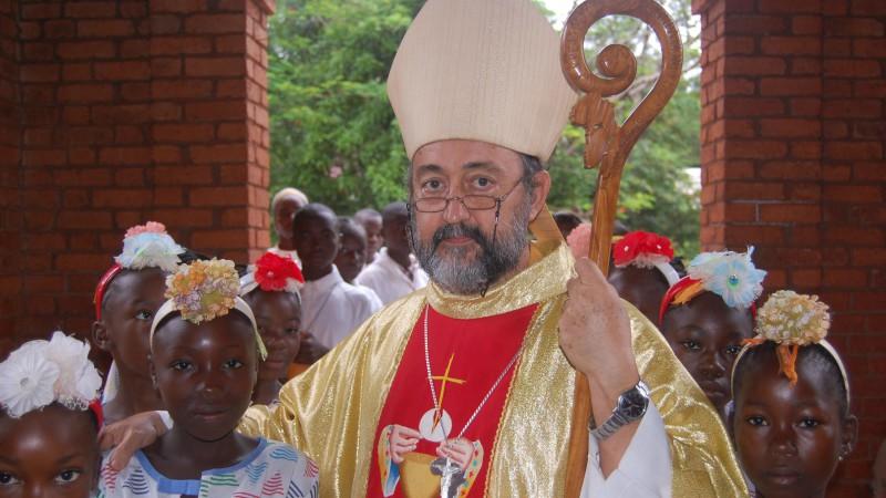 Mgr Aguirre, évêque du diocèse de Bangasou, en Centreafrique. (Photo: AED/acn)
