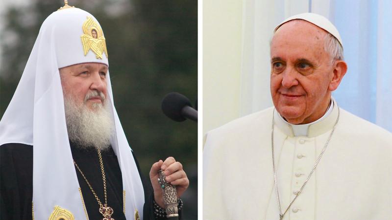 Le patriarche Cyrille Ier de Moscou et le pape François (Photos: DR)
