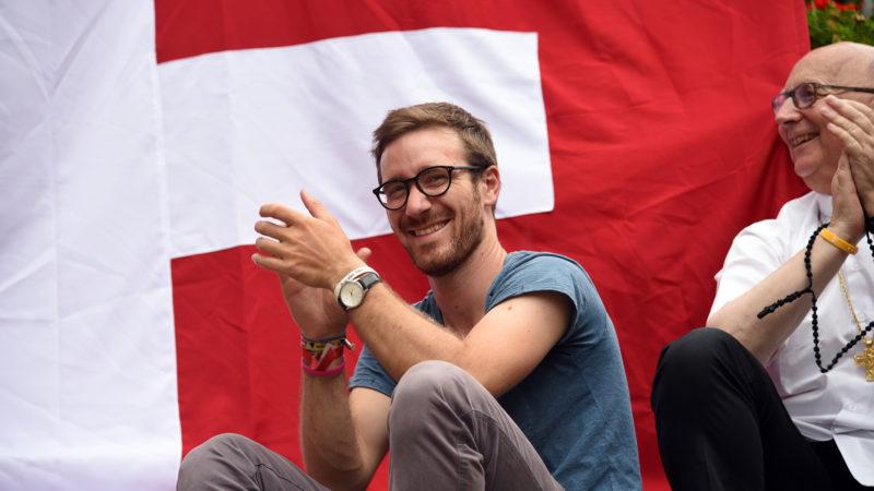 JMJ: Les jeunes suisses se sont donnés rendez-vous dans une paroisse du centre de Cracovie pour une rencontre nationale (Photo: Pierre Pistoletti)