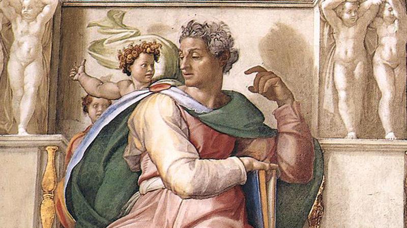"""""""Ne crains pas, car je suis avec toi"""", tiré du prophète Isaïe, ici représenté par Michel-Ange. (Photo: Wikimedia Commons/public domain)"""