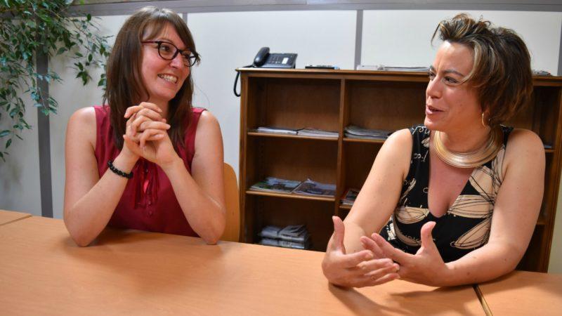 Caroline Vannay et Paola Stanic, chargées de la formation à Caritas Fribourg (Photo:  Jacques Berset)