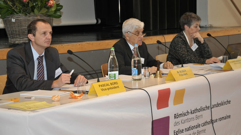 Pascal Bord, Vice-président du Synode, Markus Rusch, Président du Synode et Regula Furrer, Administratrice (Photo: DR)